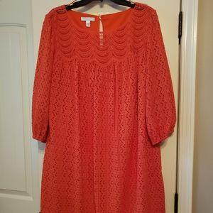 London Times Woman UT Orange Dress